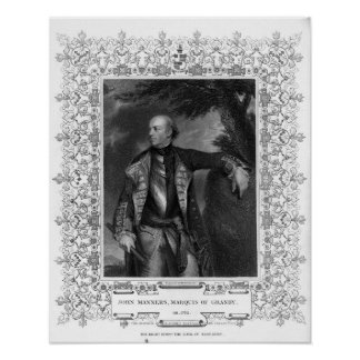 Portrait of John Manners, Marquis of Granby Poster
