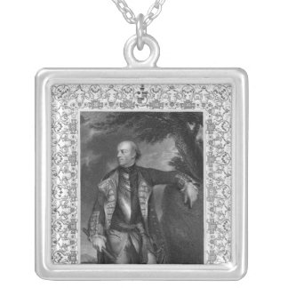 Portrait of John Manners, Marquis of Granby Silver Plated Necklace