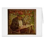 Portrait of John Maynard Keynes (1883-1946) (oil o Greeting Card