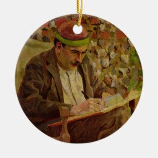 Portrait of John Maynard Keynes (1883-1946) (oil o Ceramic Ornament