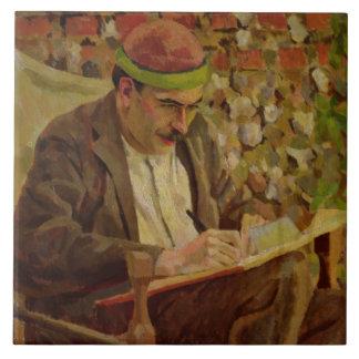 Portrait of John Maynard Keynes (1883-1946) (oil o Ceramic Tile