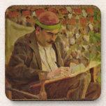 Portrait of John Maynard Keynes (1883-1946) (oil o Coasters
