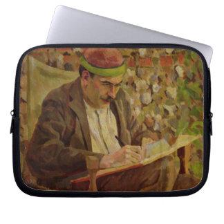 Portrait of John Maynard Keynes (1883-1946) (oil o Laptop Sleeve