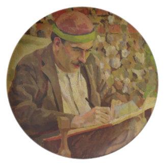 Portrait of John Maynard Keynes (1883-1946) (oil o Melamine Plate