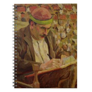 Portrait of John Maynard Keynes (1883-1946) (oil o Notebook