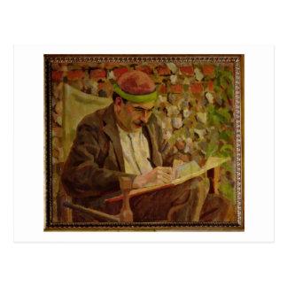 Portrait of John Maynard Keynes (1883-1946) (oil o Postcard