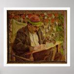 Portrait of John Maynard Keynes (1883-1946) (oil o Print