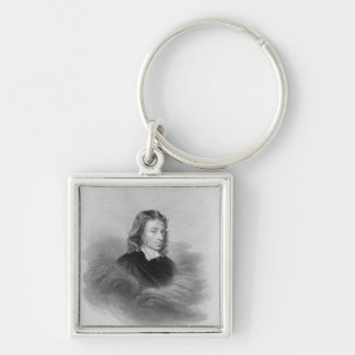 Portrait of John Milton (1608-74) engraved by the Keychain