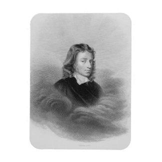 Portrait of John Milton (1608-74) engraved by the Magnet