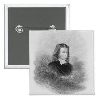Portrait of John Milton (1608-74) engraved by the Pinback Button