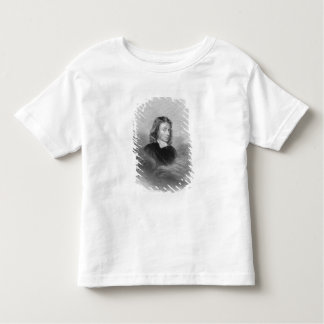 Portrait of John Milton (1608-74) engraved by the Shirt