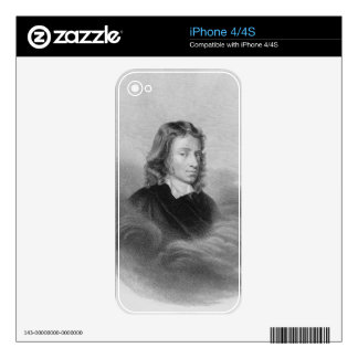 Portrait of John Milton (1608-74) engraved by the Skin For The iPhone 4