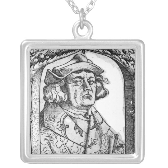 Portrait of John of Indagine Silver Plated Necklace