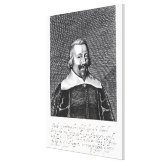 Portrait of John Pym  engraved by George Canvas Print