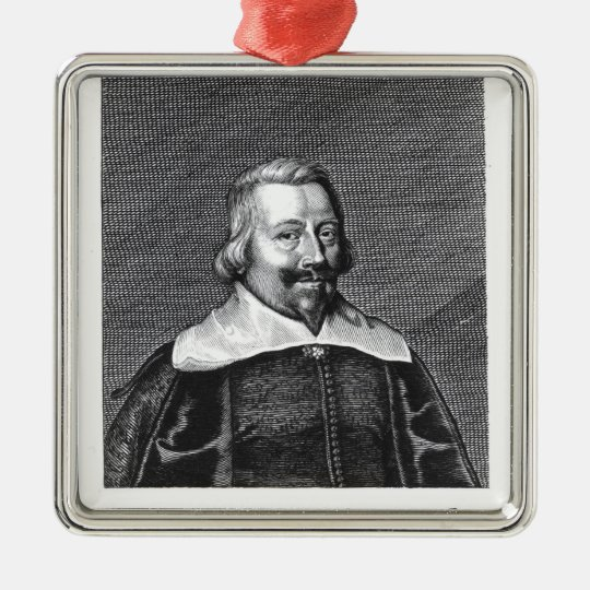 Portrait of John Pym  engraved by George Metal Ornament