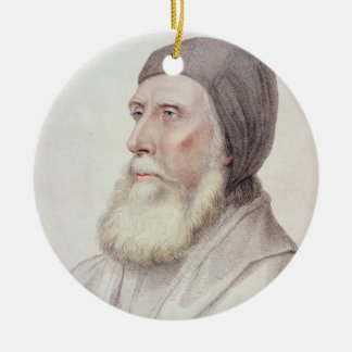 Portrait of John Russell 1st Earl of Bedford (1485 Ceramic Ornament