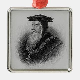 Portrait of John Russell  1st Earl of Bedford Metal Ornament