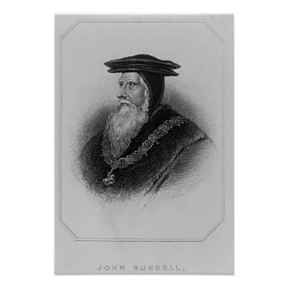 Portrait of John Russell  1st Earl of Bedford Poster