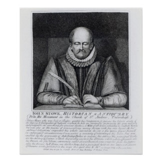 Portrait of John Stowe's from his monument Poster