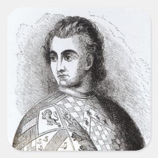Portrait of John Talbot Square Sticker