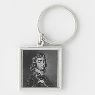 Portrait of John Viscount Mordaunt Silver-Colored Square Keychain