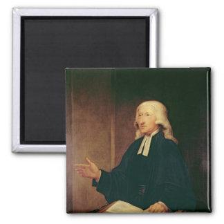 Portrait of John Wesley  1788 2 Inch Square Magnet