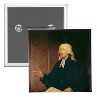 Portrait of John Wesley  1788 2 Inch Square Button