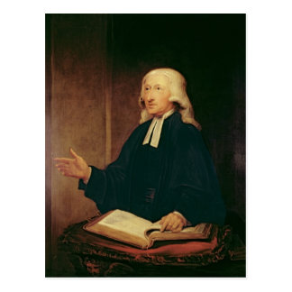 Portrait of John Wesley  1788 Postcard