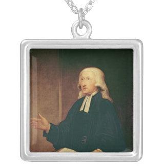 Portrait of John Wesley  1788 Square Pendant Necklace