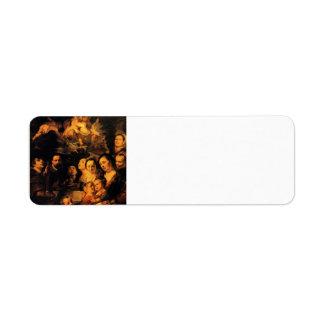 Portrait of Jordaens family by Jacob Jordaens Return Address Label