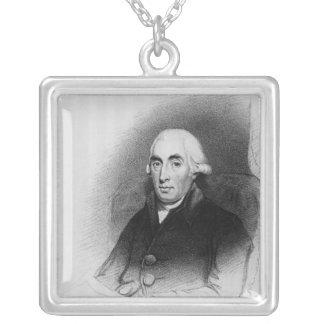 Portrait of Joseph Black Silver Plated Necklace