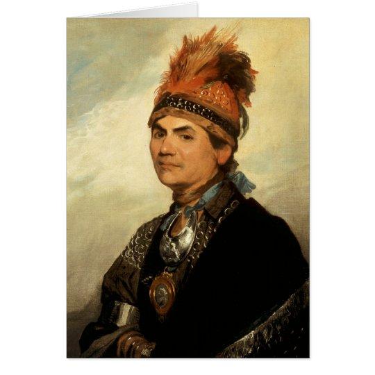 Portrait of Joseph Brant by Gilbert Stuart Card