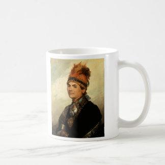Portrait of Joseph Brant by Gilbert Stuart Classic White Coffee Mug