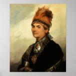 Portrait of Joseph Brant by Gilbert Stuart Poster
