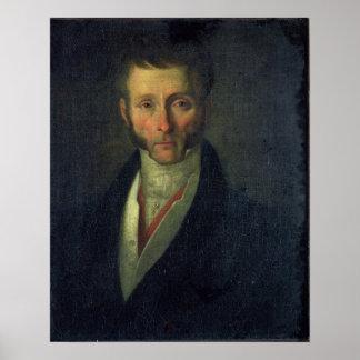 Portrait of Joseph Fouche  Duke of Otranto, 1813 Poster