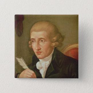 Portrait of Joseph Haydn Button