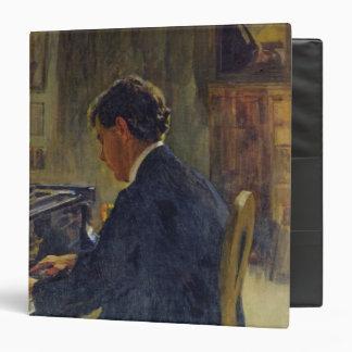 Portrait of Joseph Hofman, 1912 3 Ring Binder
