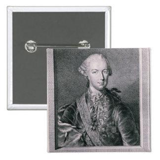 Portrait of Joseph II 2 Inch Square Button