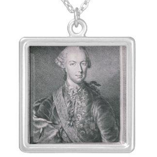 Portrait of Joseph II Square Pendant Necklace