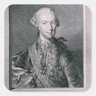 Portrait of Joseph II Square Stickers
