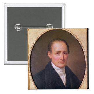 Portrait of Joseph Nicephore Niepce  1854 Pinback Button