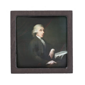Portrait of Joseph Priestley (1733-1804) (oil on c Jewelry Box