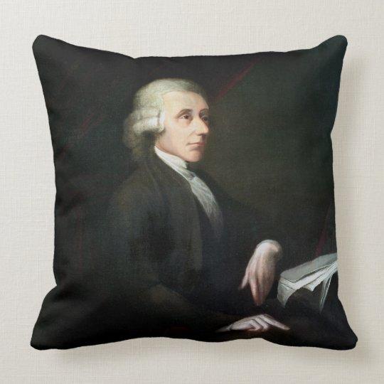 Portrait of Joseph Priestley (1733-1804) (oil on c Throw Pillow