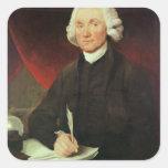 Portrait of Joseph Priestley (1733-1804) Square Stickers