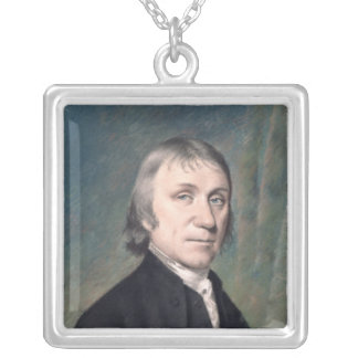 Portrait of Joseph Priestley , c.1797 Silver Plated Necklace