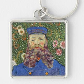 Portrait of Joseph Roulin, Vincent Van Gogh Silver-Colored Square Keychain