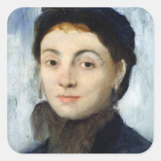 Portrait of Josephine Gaujelin, 1867 Square Sticker