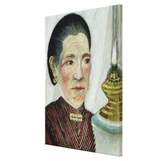 Portrait of Josephine, the artist's second wife, c Canvas Print