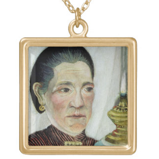 Portrait of Josephine, the artist's second wife, c Gold Plated Necklace