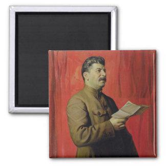 Portrait of Josif Stalin, 1933 2 Inch Square Magnet